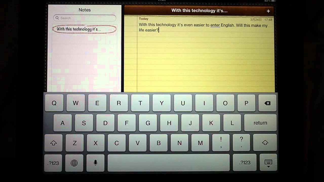 Apple iPad 3 (2012), Siri Dictation in English and Japanese