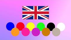 Kielisuihkutus kotona – Englanti – KIM-leikki – kaikki värit
