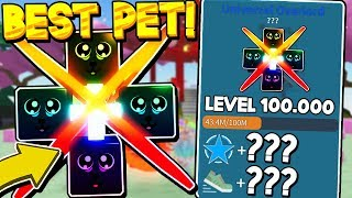 LEVELED A MYTHICAL PET TO LEVEL 100,000 THEN THIS HAPPENED.. IM UNBOXING SIMULATOR! Roblox