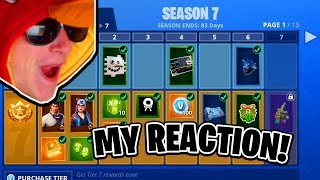 Season 7 Battle Pass Reaction! (New Fortnite Skins) Crisis