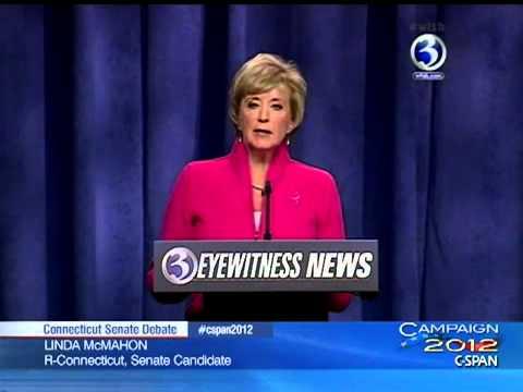 Connecticut Senate Debate Linda McMahon vs. Chris Murphy - 10/7/12