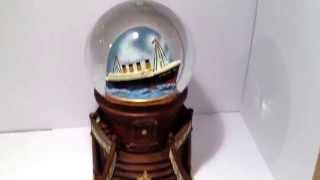 NEW Titanic Grand Staircase Musical Snowglobe RMS White Star Music Box