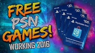 "FREE PS4 GAMES! - How To Get ""FREE GAMES on PS4"" (UNLIMITED FREE PSN CODES) - Working 2016"