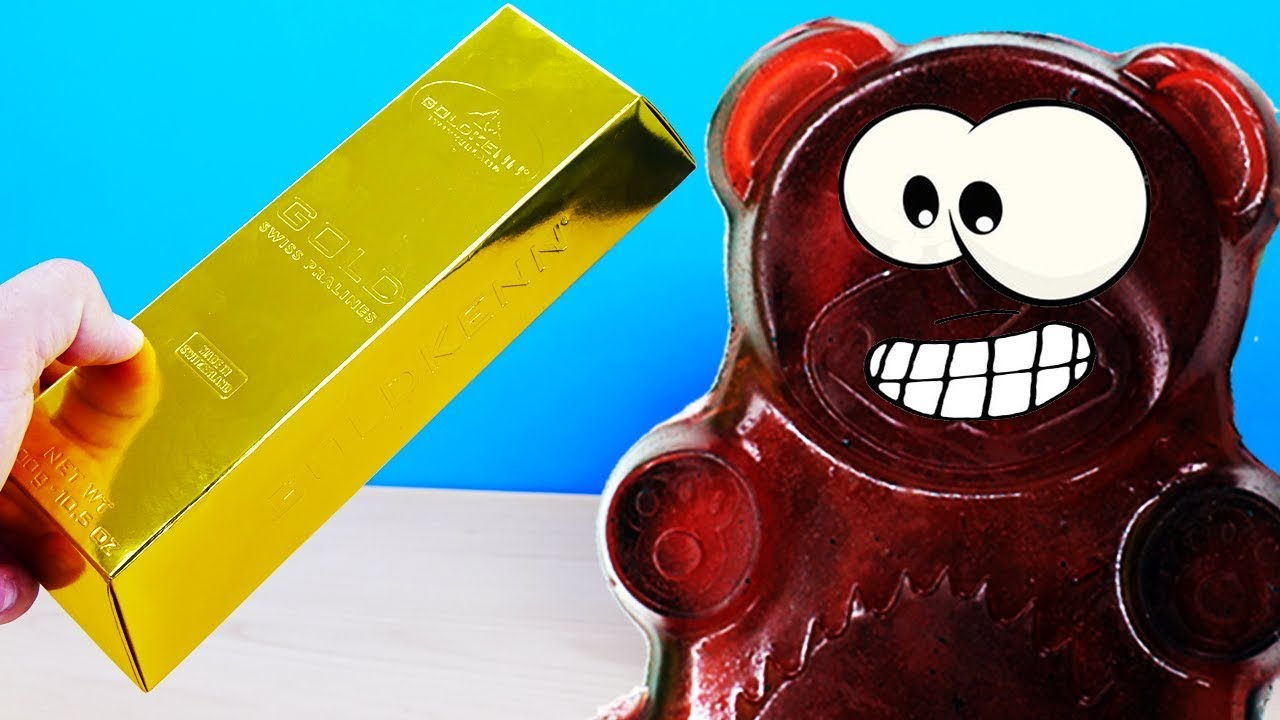 Золотой подарок для желейного медведя валерки