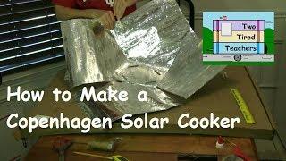 How to Make a Copenhagen Solar Cooker - DIY Solar Cooker, FREE Solar Cooker, Free Solar Cooking