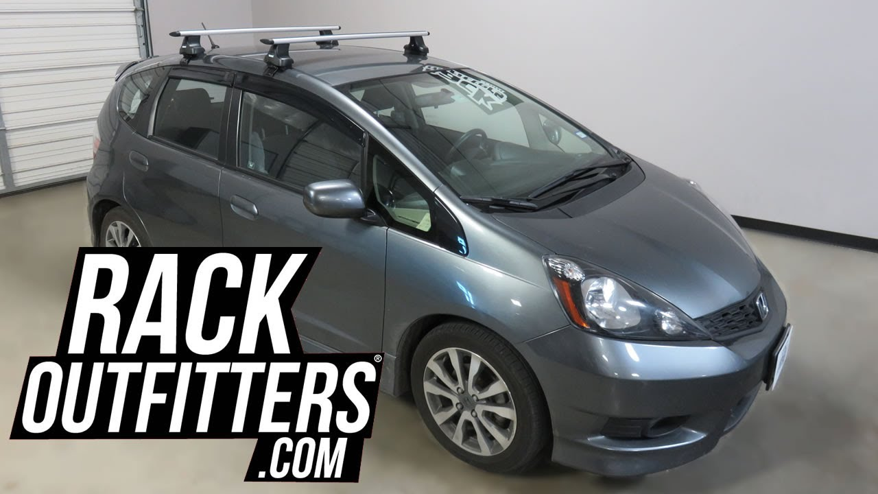 2009 To 2013 Honda Fit With Thule Rapid Traverse Aeroblade Roof Rack