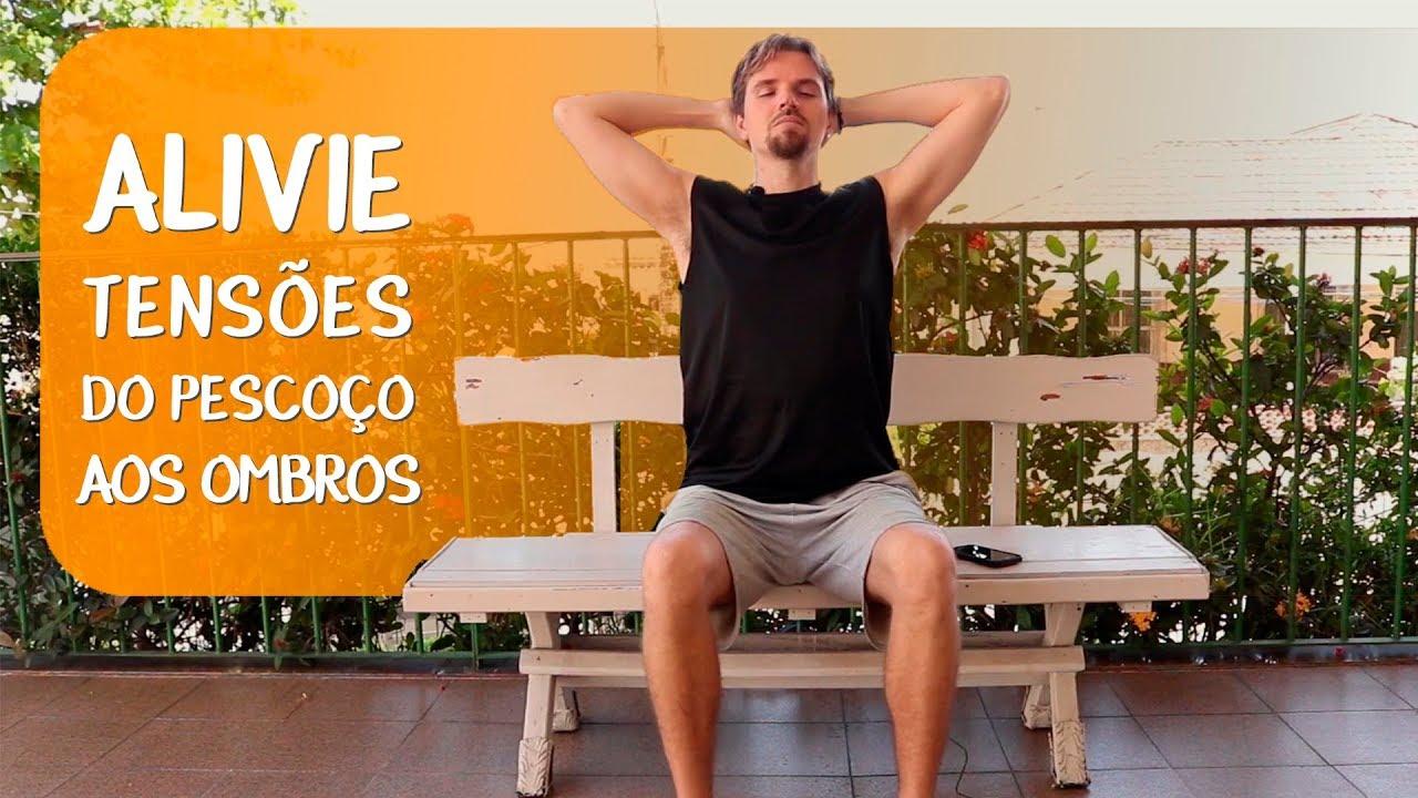 Prática de Yoga para aliviar tensão no pescoço