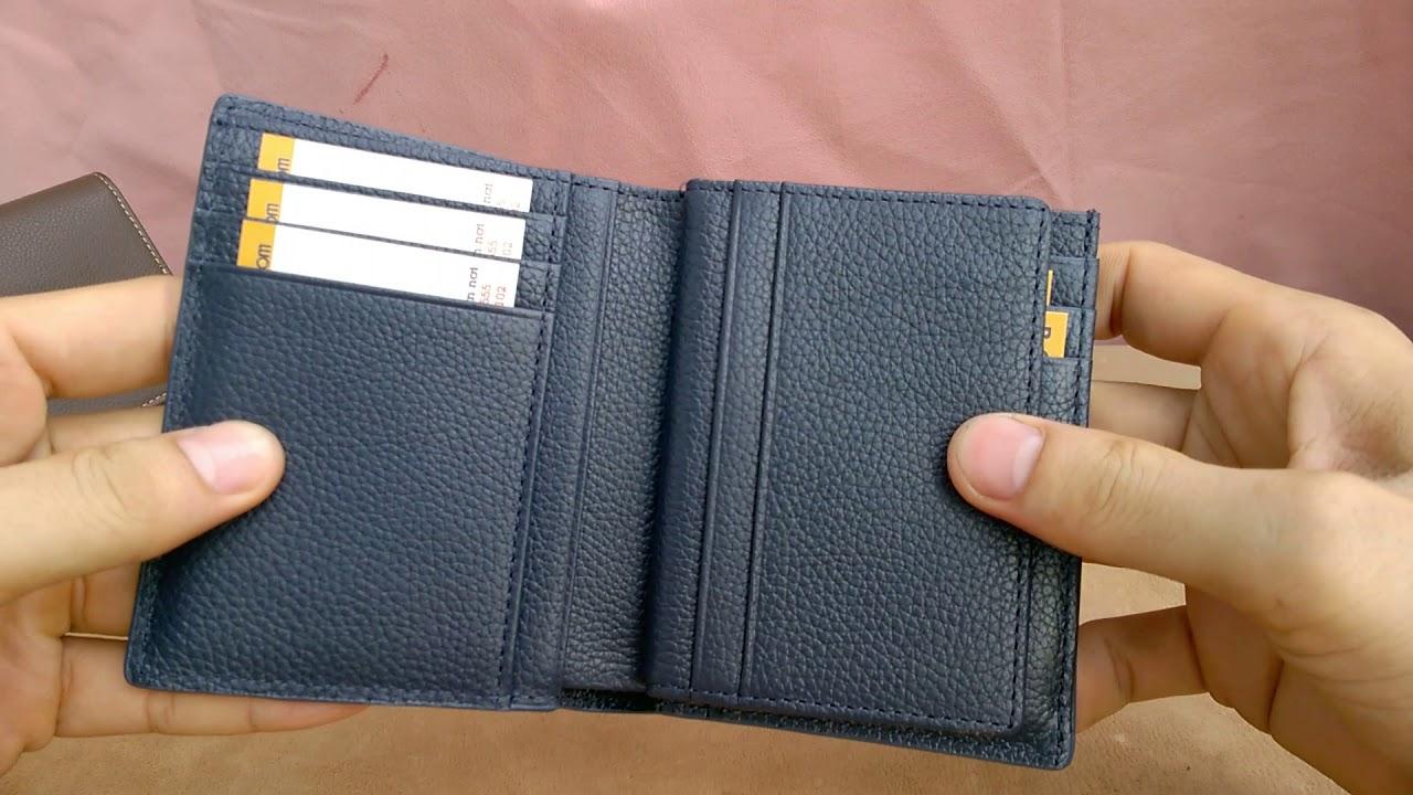 B&C Leather S3 Maxa - Ví da nam da bò thật hàng hiệu siêu chứa kiểu ví đứng