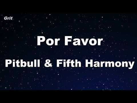 Por Favor - Pitbull and Fifth Harmony Karaoke 【With Guide Melody】 Instrumental