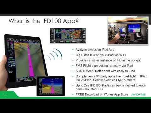 Avidyne IFD100App + Foreflight