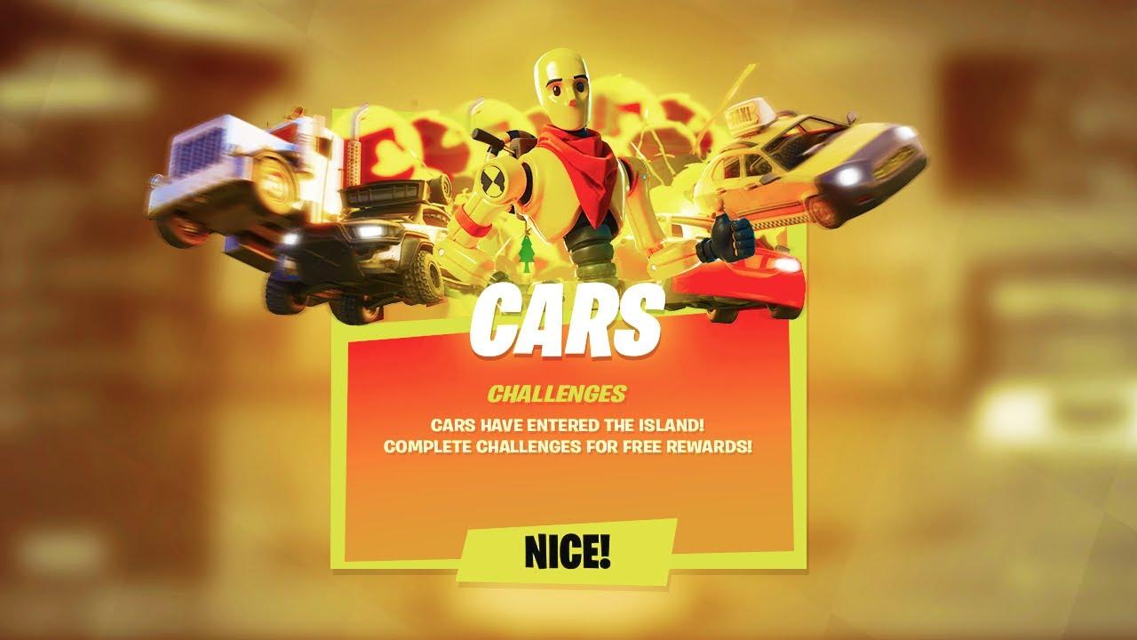 Fortnite Cars Update Event Youtube