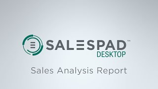 Sales Analysis Report   SalesPad Desktop