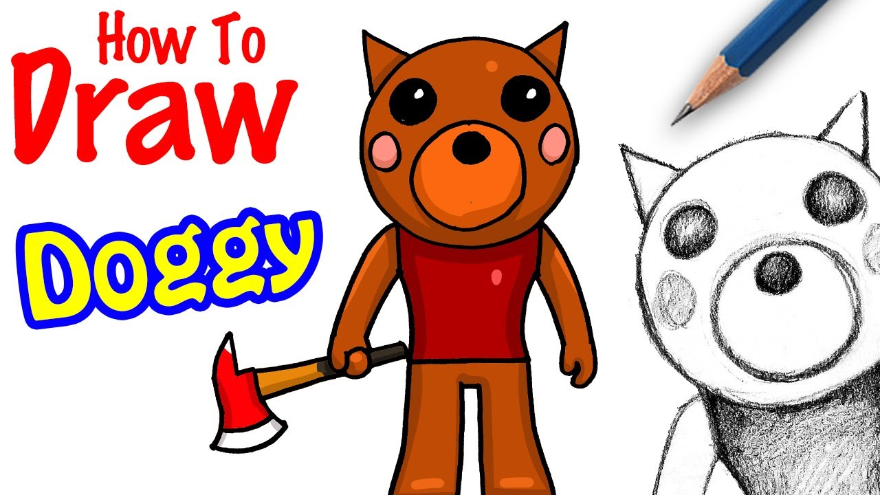 Cool Roblox Character Roblox Cool Roblox Art How To Draw Doggy Roblox Piggy Youtube