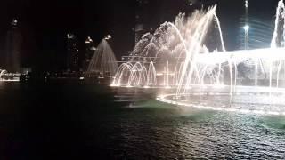 Amazing dancing fountain at Dubai-Con te partiro