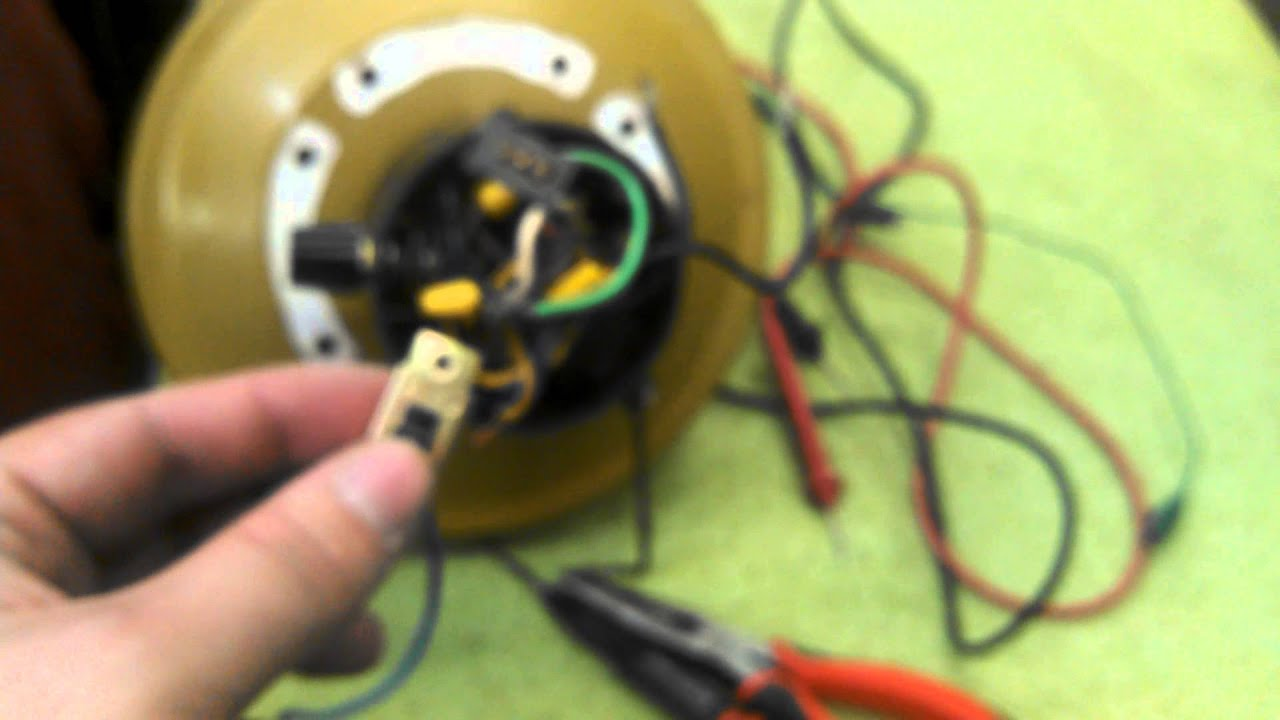replacing the reverse switch in an evergo emperor roma ceiling fan motor [ 1280 x 720 Pixel ]