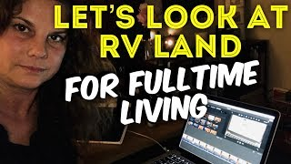 CHOOSING AN RV LAND OPTION FOR FULLTIME  LIVING IN FLORIDA!