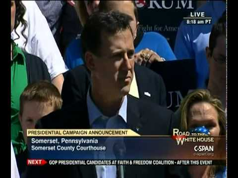 Rick Santorum Presidential Announcement