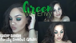 Green With Envy   Family Cookout GRWM   MommyMUA
