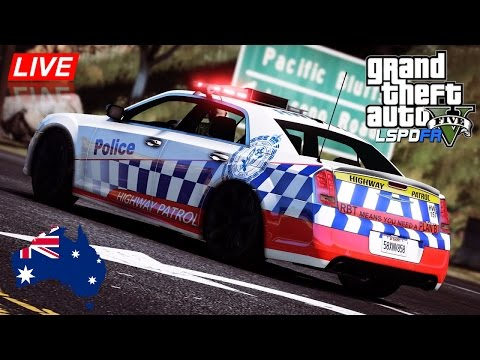 GTA 5 - NSW Police Mod - Fictional Chrysler 300C Highway Patrol (Play GTA as a cop mod for PC)