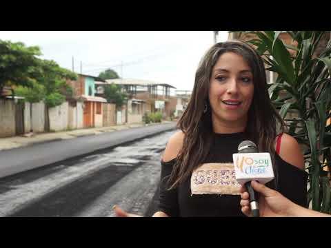 Microinformativo Yo Soy de Chone - Trabajos de asfaltado en calle Elías Cedeño Jerves