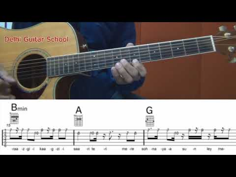 dil diyan gallan guitar tabs andchords lead sheet
