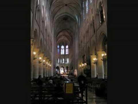 Léonce de St Martin improvises at Notre Dame (1)