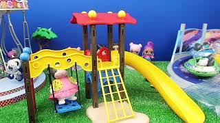 LOL Bebekler için Oyun Parkı Kuruyoruz!! Salıncak, Kaydırak ile eğlenceli oyun parkı Bidünya Oyuncak