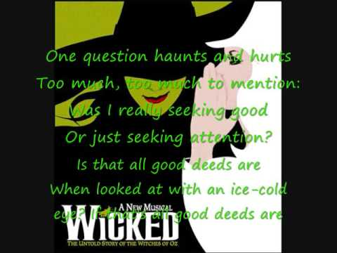 Wicked No Good Deed