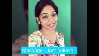 Just Believe ! Short Divya David messages