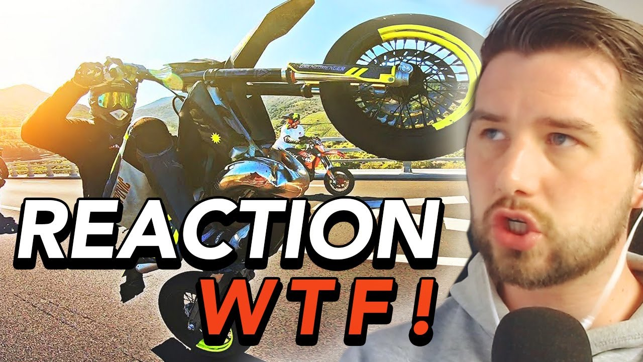 Motorrad Stunt REAKTION   Querly - Früher vs heute