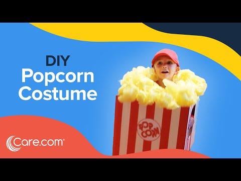 How To Make A Popcorn Box Costume - Easy DIY Halloween | Care.com