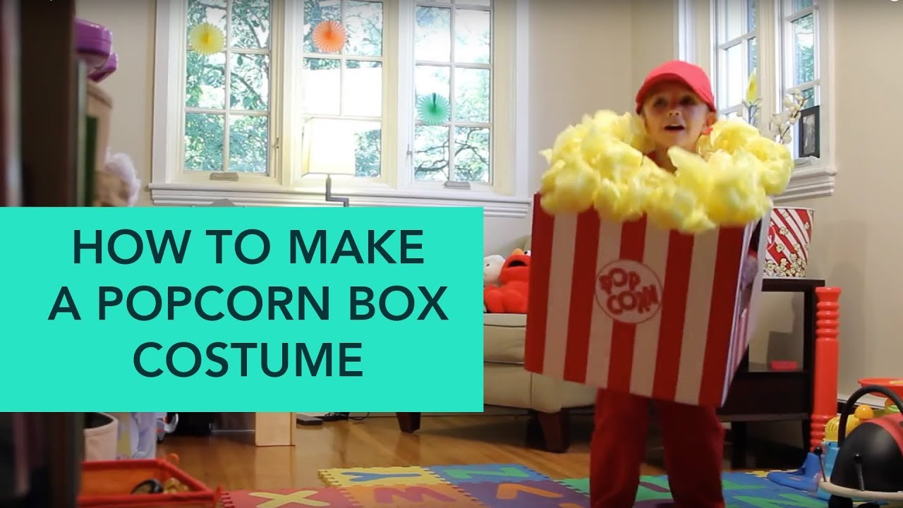 how to make a popcorn box costume - easy diy halloween | care