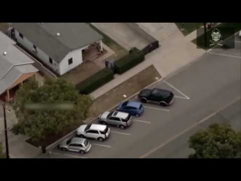 Los Angeles Police Chase and K9 Unit in Action in California