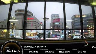 [FHD|ac]JR東日本・上越新幹線:大宮→高崎駅間、E2系『とき号』乗車走行シーン。【車窓・側面展望】