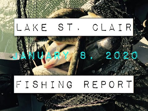 Lake St.Clair Michigan Fishing Report 1-8-2020