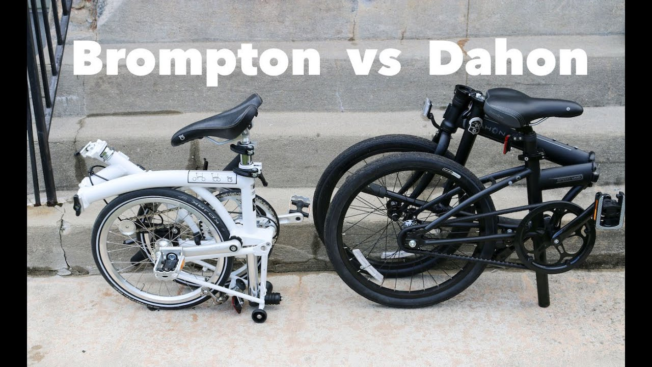 09619a48191 Dahon vs Brompton folding bike - Which is the Best? - YouTube