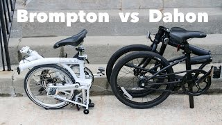Dahon vs Brompton folding bike - Which is the Best?