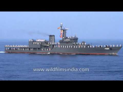 Sri Lanka's Sayura P620 sails on Eastern Naval Command of Indian Navy