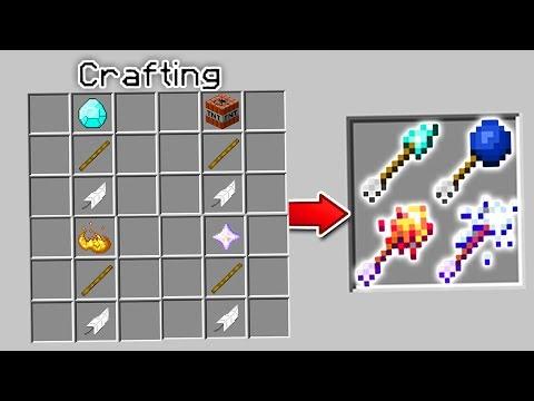 CRAFTING NEW MINECRAFT ARROWS | Minecraft Mods (Explosive Arrows, Fire Arrows)