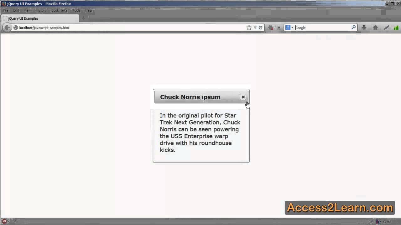 Using Jquery Ui To Create A Basic Dialog Box
