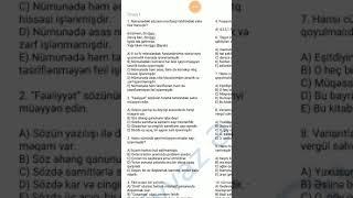 Dil qaydası üzrə 20 suallıq sınağın izahı - Eyvaz müəllim