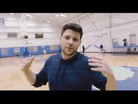 New York Knicks: NYK Practice  A visit from Jerry Ferrara