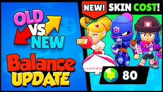 OLD vs NEW! Balance Changes + NEW SKINS COST Revealed | Brawl Stars 2020 LUNAR Update