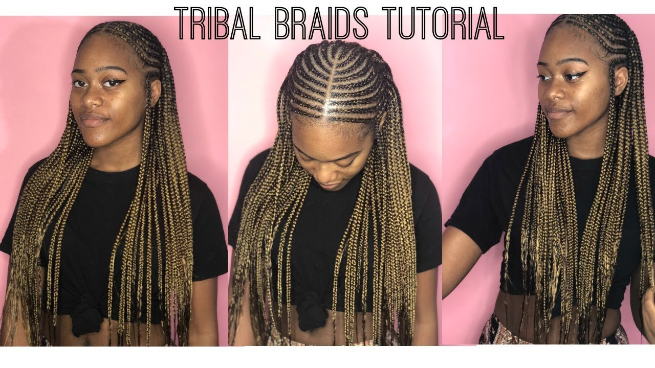 Tribal Braids Tutorial - YouTube