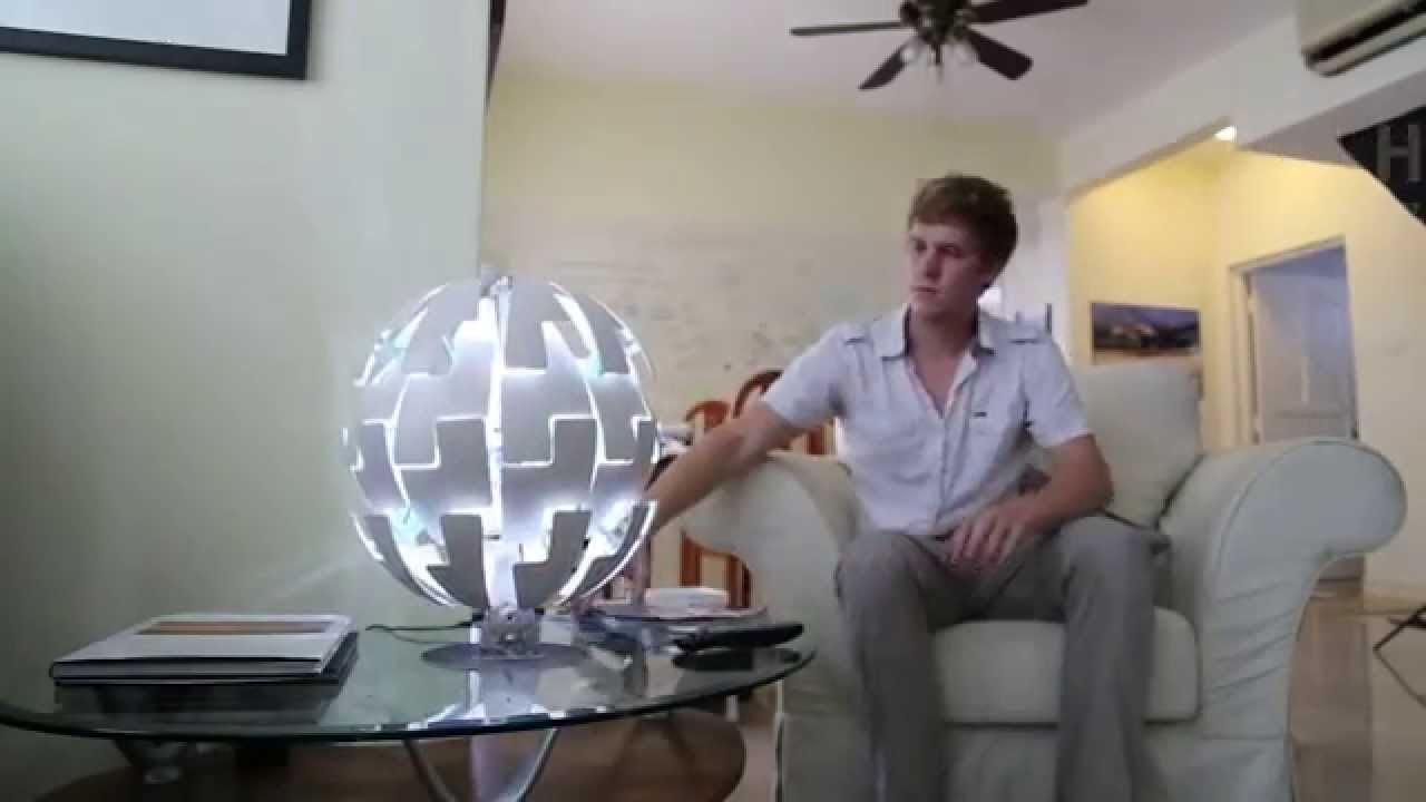 Ikea DeathStar Lamp Prototype  Arduino  YouTube