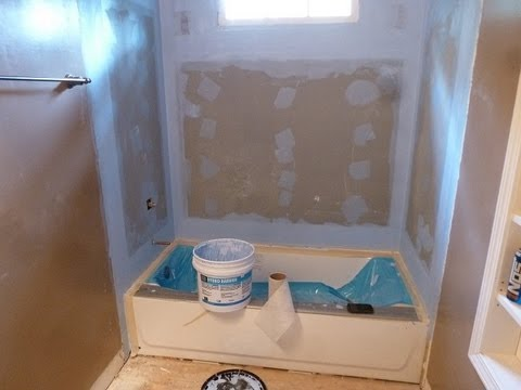 "Tile backer board installation - 60"" bathtub surround walls for Tile installation   Part""2"""