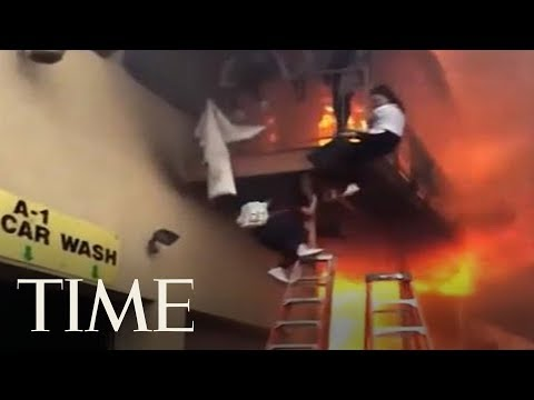 Screaming Girls Forced To Jump After Fire Breaks Out At New Jersey Dance Studio | TIME