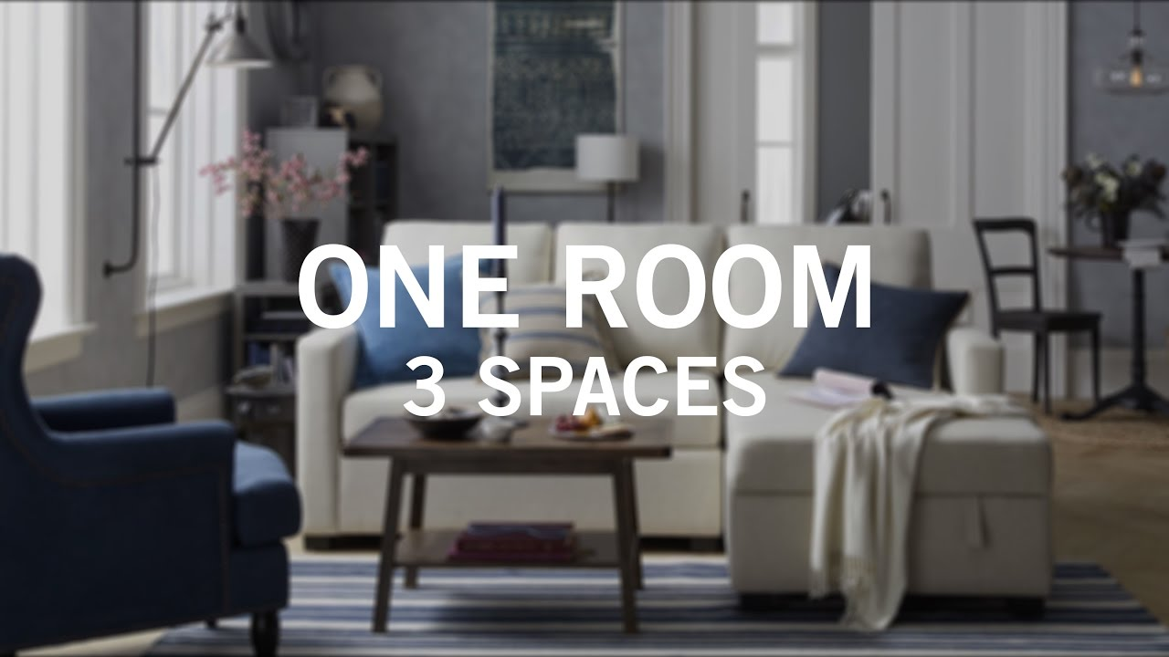 Small Space Big Style: One Room 3 Spaces - YouTube