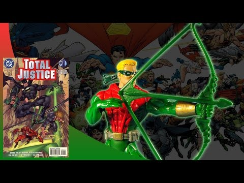 KENNER - BATMAN TOTAL JUSTICE - GREEN ARROW ACTION FIGURE REVIEW (eng)