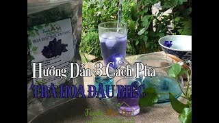 HƯỚNG DẪN 3 CÁCH PHA TRÀ HOA ĐẬU BIẾC Tại Vườn Hoa Đậu Biếc- How To Make Butterfly Pea Flower Tea